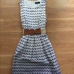 Nice Dress Blue and White with belt
